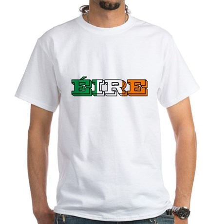 Eire Ireland White T-Shirt