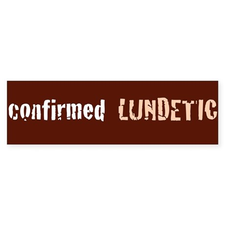 confirmed LUNDETIC Sticker (Bumper)