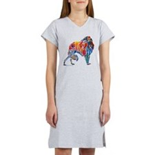 Borzoi in Many Colors Women's Nightshirt
