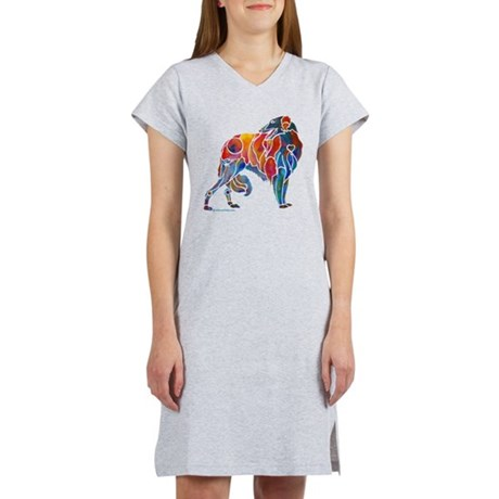 Borzoi on Dark T's Women's Nightshirt
