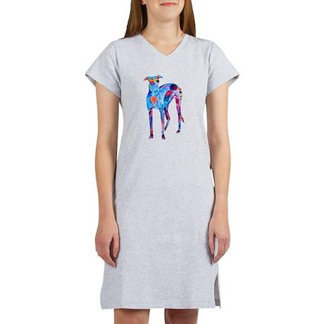 Greyhound with Heart Women's Nightshirt