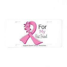 Best Friend Breast Cancer Aluminum License Plate