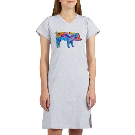 Pigs of Many Colors Women's Nightshirt