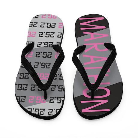 26.2 Marathon PINK GREY Flip Flops