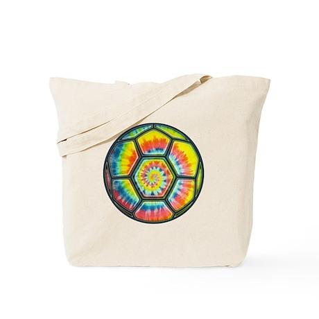 Tie-Dye Soccer Ball Tote Bag