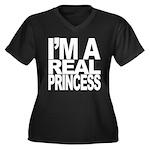 Princess Women's Plus Size V-Neck Dark Tee