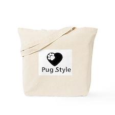 Pug Style Tote Bag