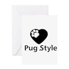 Pug Style Greeting Card