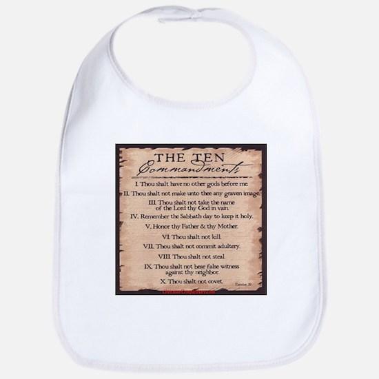 The Ten Commandments Bib