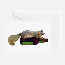 Squirrel Empty Bottle Greeting Card