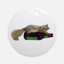 Squirrel Empty Bottle Ornament (Round)