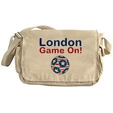 Soccer Game On Messenger Bag