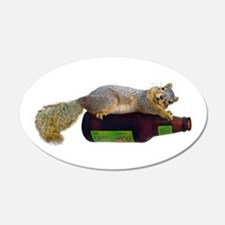 Squirrel Empty Bottle Wall Decal