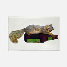 Squirrel Empty Bottle Rectangle Magnet