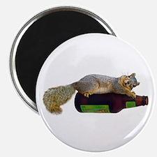Squirrel Empty Bottle Magnet