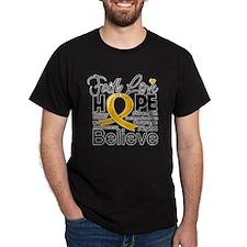 Faith Hope Appendix Cancer T-Shirt