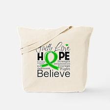 Faith Hope Bile Duct Cancer Tote Bag