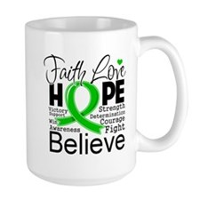 Faith Hope Bile Duct Cancer Mug