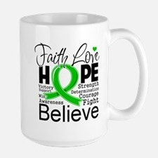 Faith Hope Bile Duct Cancer Mug