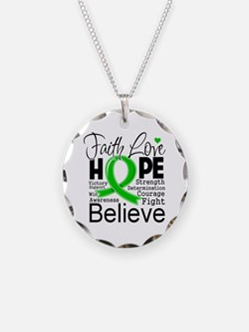 Faith Hope Bile Duct Cancer Necklace