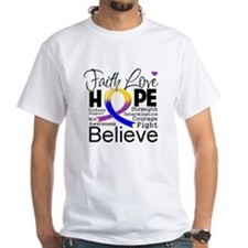 Faith Hope Bladder Cancer Shirt