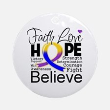 Faith Hope Bladder Cancer Ornament (Round)