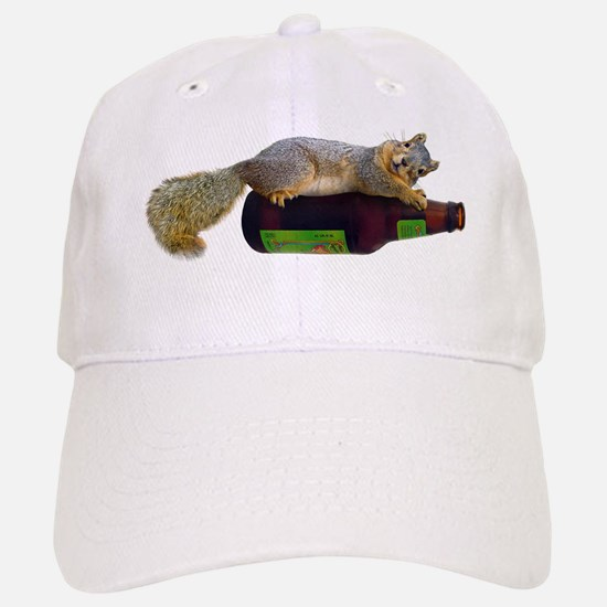 Squirrel Empty Bottle Baseball Baseball Cap