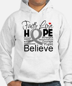 Faith Hope Brain Cancer Hoodie