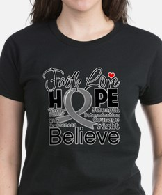 Faith Hope Brain Cancer Tee