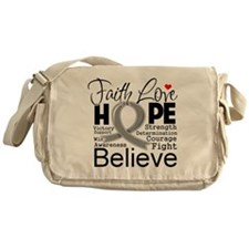 Faith Hope Brain Cancer Messenger Bag