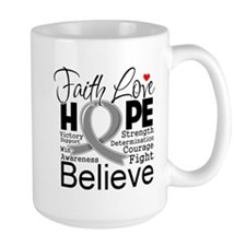 Faith Hope Brain Cancer Mug