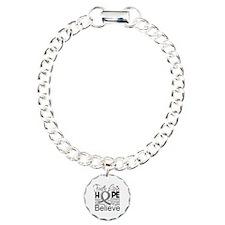 Faith Hope Brain Cancer Charm Bracelet, One Charm