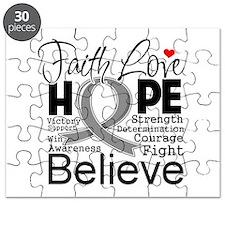 Faith Hope Brain Cancer Puzzle