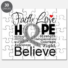 Faith Hope Brain Cancer Puzzle