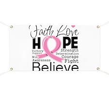 Faith Hope Breast Cancer Banner
