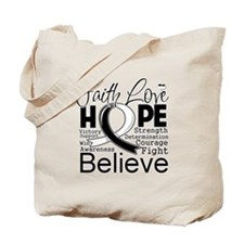 Faith Hope Carcinoid Cancer Tote Bag