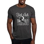 Faith Hope Carcinoid Cancer Dark T-Shirt