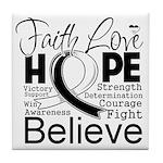 Faith Hope Carcinoid Cancer Tile Coaster