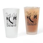 Faith Hope Carcinoid Cancer Drinking Glass