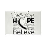Faith Hope Carcinoid Cancer Rectangle Magnet