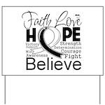 Faith Hope Carcinoid Cancer Yard Sign