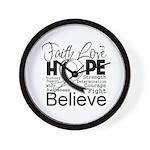 Faith Hope Carcinoid Cancer Wall Clock