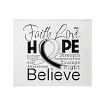 Faith Hope Carcinoid Cancer Throw Blanket