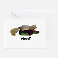 Squirrel Empty Bottle Greeting Cards (Pk of 10)