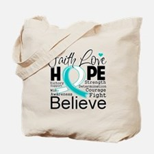 Faith Hope Cervical Cancer Tote Bag