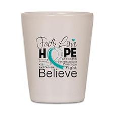 Faith Hope Cervical Cancer Shot Glass