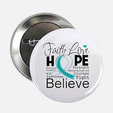 """Faith Hope Cervical Cancer 2.25"""" Button"""