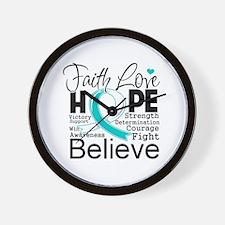 Faith Hope Cervical Cancer Wall Clock