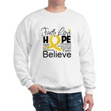 Faith Hope Childhood Cancer Sweatshirt