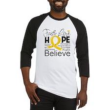 Faith Hope Childhood Cancer Baseball Jersey